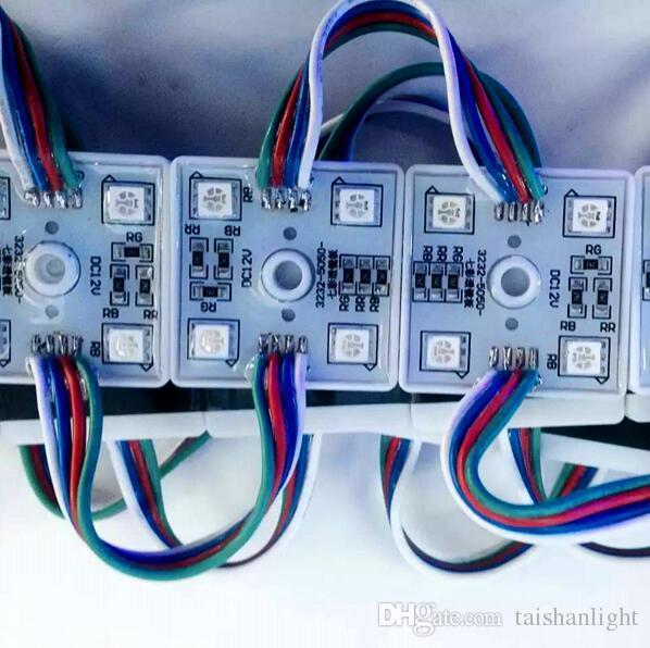 무료 배송 4LED 5050 SMD RGB Led 모듈 방수 라이트 램프 DC 12V 여러 가지 빛깔의 조언 백라이트 장식