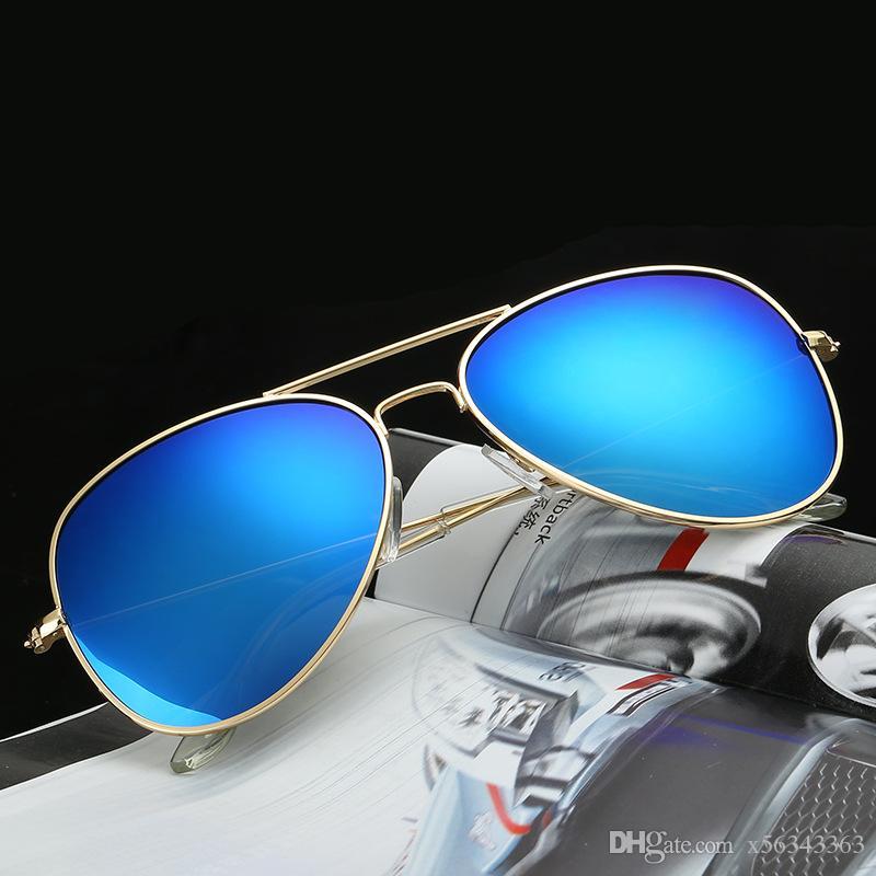 120 stücke 2016 verkauf klassische männer frauen sonnenbrille brillen markennamen mode sonnenbrille frauen sonnenbrille metall pilot marke sonnenbrille.