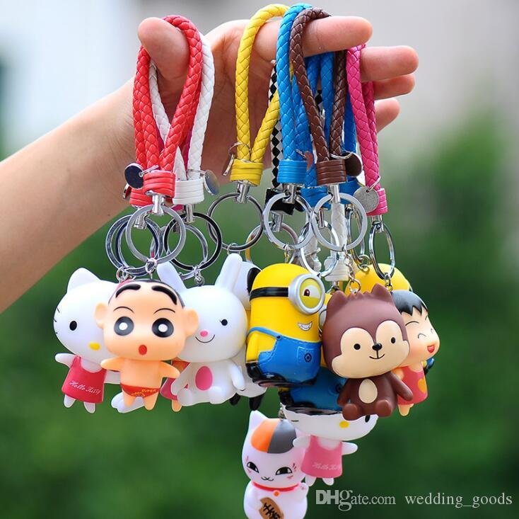 Hot sale Lovely Lucky Cat Blanket Creative Cartoon Car Keychain Key Chain Pendant KR197 Keychains mix order 20 pieces a lot
