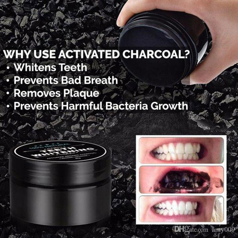 DHL 384PCS black Teeth Whitening Powder Nature Smile Powder Decontamination Tooth Yellow Stain Bamboo Toothpaste Oral Care Free shipping