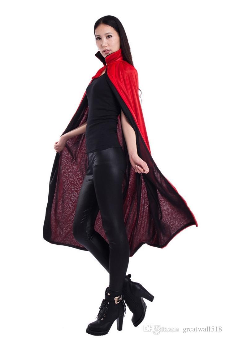 2017 Children Adult Halloween Costumes Reversible Vampire Cloak ...