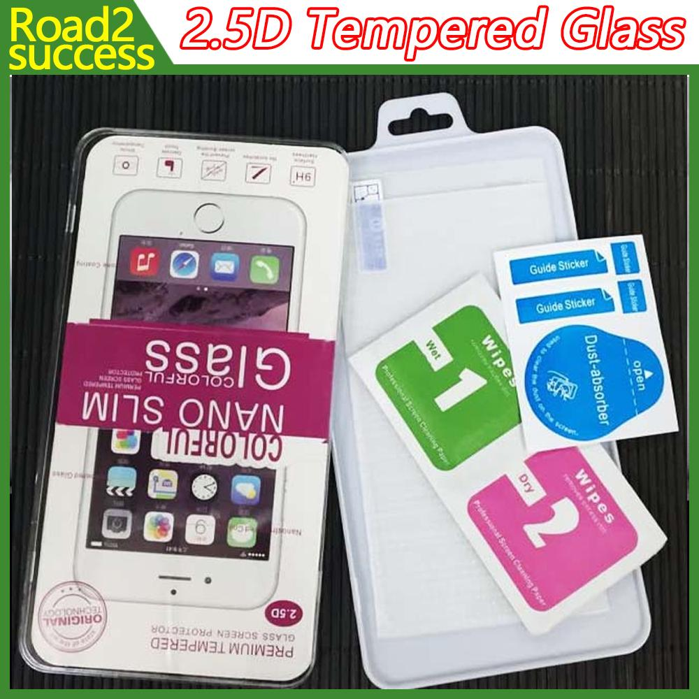 2.5D واقي شاشة صلب مقاوم للكسر بحماية زجاجية لجوال ايفون 7 SE S7 ايدج S6 ايدج بلس جلاس ايفون 7 6 6 بلس 5 4 Samsung S4 S5 Note 7 2/3/4/5 New LG K7