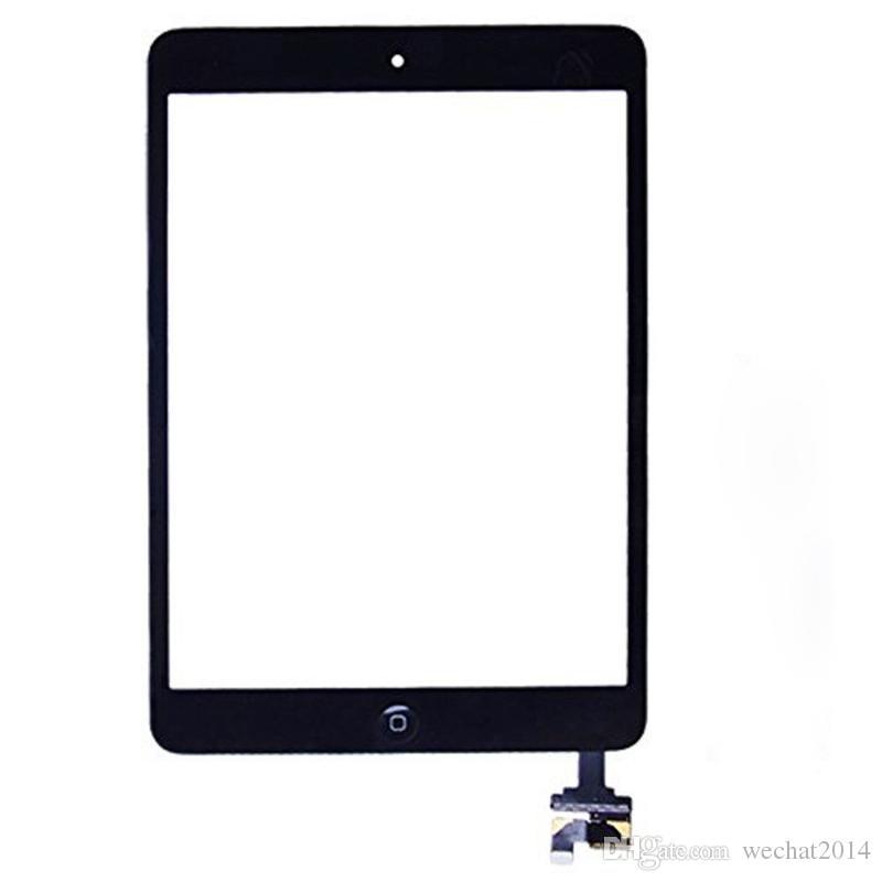 Pannello 100% dello schermo di tocco di vetro con digitalizzatore con i pulsanti ic connettore per Mini iPad 2 in bianco e nero