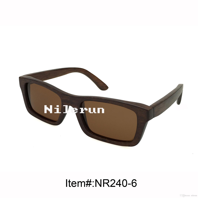 beliebte braune Holzsonnenbrille