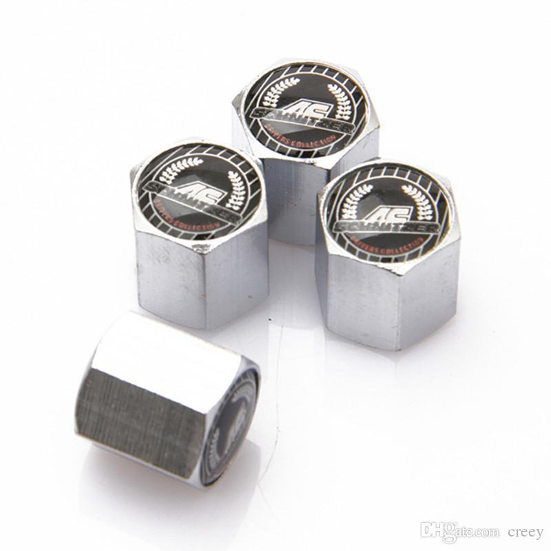 4pcs Silver Hexagon Aluminum Wheel Tyre Valve Stem Caps For KIA All Year Model