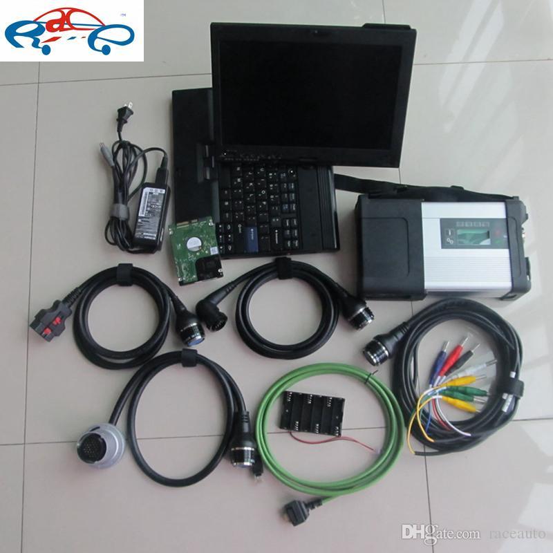 2019.05v h d d en el portátil x200t listo para trabajar para MB Star C5 Sd Connect para mb coche camión Herramienta de diagnóstico