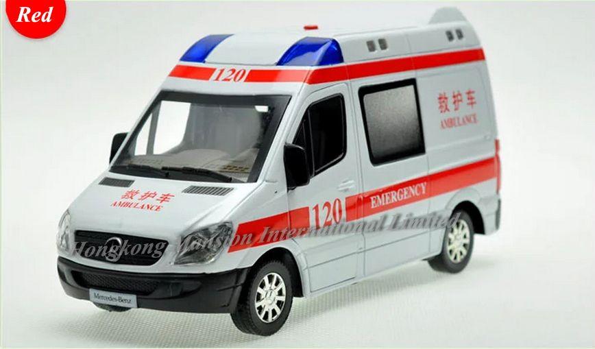 1:32 مقياس دييكاست سبيكة نموذج سيارة إسعاف ل العداءة جمع rv نموذج التراجع لعب سيارة مع soundlight