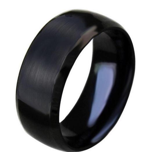 Anel de aço inoxidável do aço de tungstênio que bate o anel de aço titanium dos homens