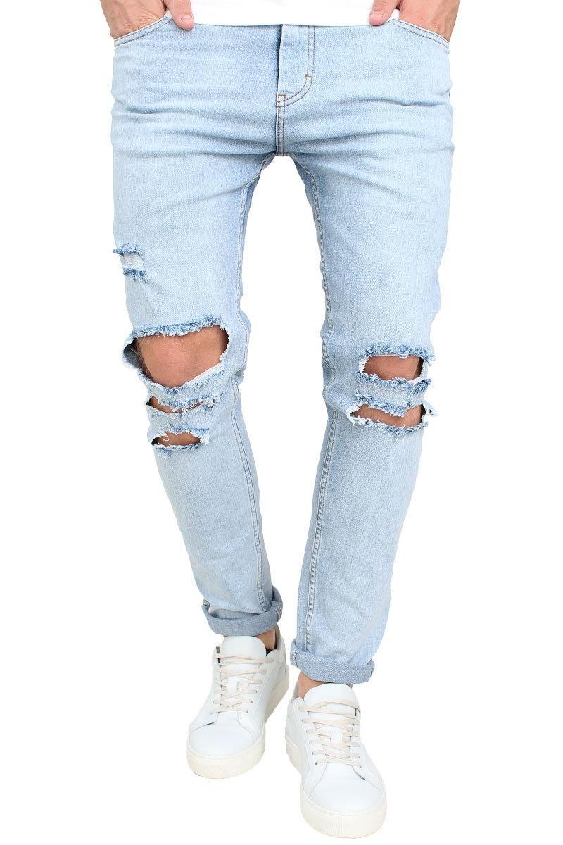 attraktiver Stil gemütlich frisch 100% hohe Qualität Slim Fit Ripped Jeans Men Hi Street Mens Distressed Denim Joggers Knee  Holes Washed Destroyed Jeans UK 2019 From Hu1316, UK $&Price; | DHgate UK