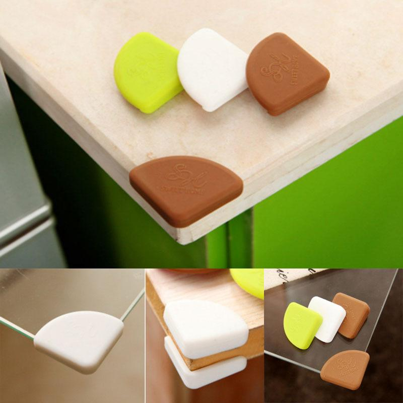 Wholesale- Soft Baby Safety Corner Protector Baby Kids Table Desk Corner Guard Children Safety Edge Guards Silicone High Quality AY679127