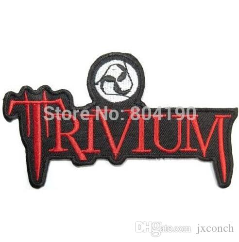 "4.8 ""TRIVIUM Rockabilly Music Band 로고 NEW IRON ON과 SEW ON HW 메탈 맞춤 디자인 패치"