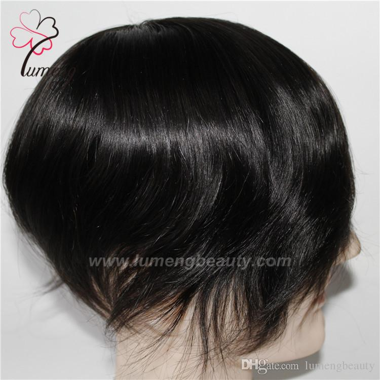 Best Quality Mono with PU Remy Hair toupee men