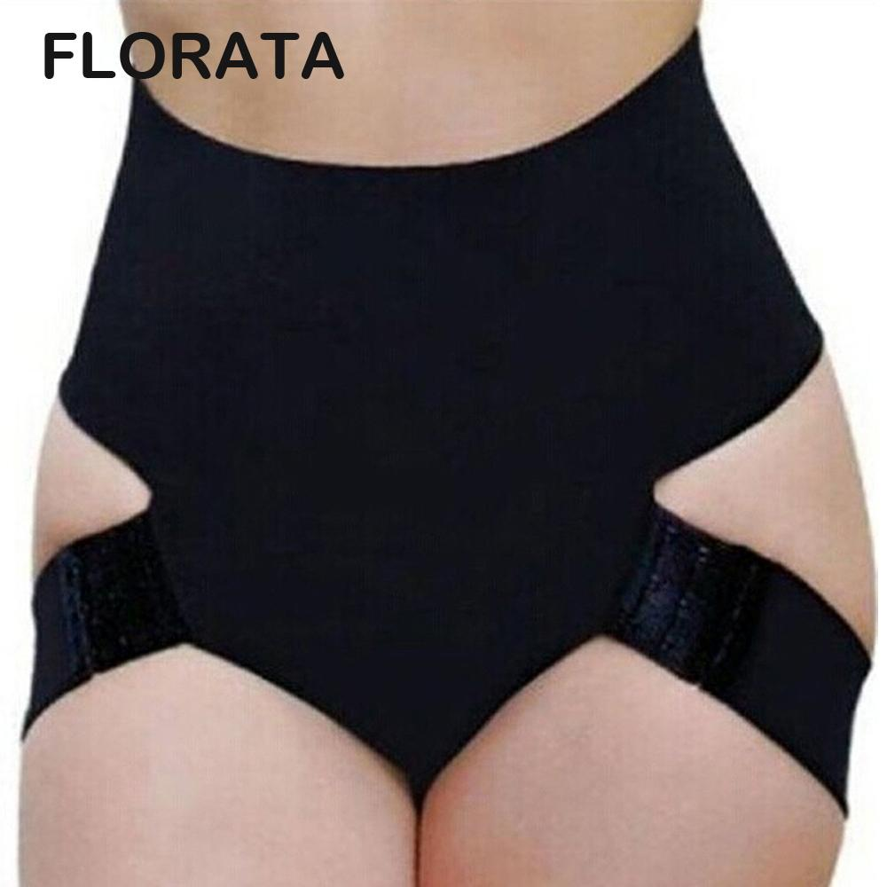 Wholesale- FLORATA New Ladies Women Butt Lifter Shaper Bum Lift Pants Buttocks Enhancer Booty Brief