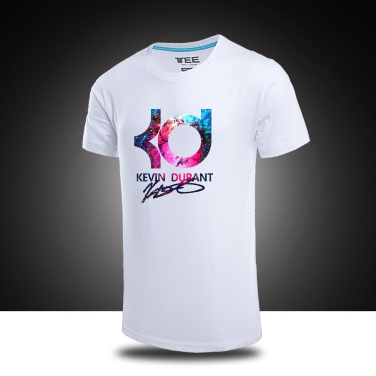 KD T Shirt Mens Cotton T Shirt KD Colorful Prints Summer Jersey Top Quality ...