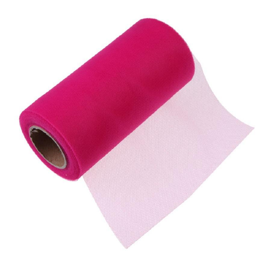 Tissu Tulle Rouleau 15 cm 26 Mètres Bobine Tutu Cadeau Wrap Décoration De Mariage Fête D'anniversaire Faveurs