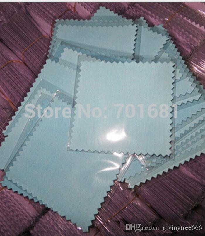 Epackfree 200 pz 8 * 8 cm MISTO 4 colori argento polacco sacchetti di opp Panno per gioielli in argento Cleaner tessuto scamosciato materiale