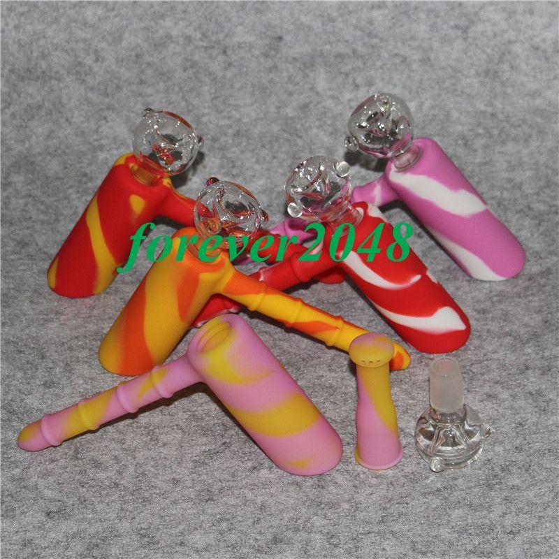 Оптовая силиконовые барботер бонги марсианский силиконовые тупой Бонг барботер совместное курение пузырь небольшие водопроводные трубы ручной трубы