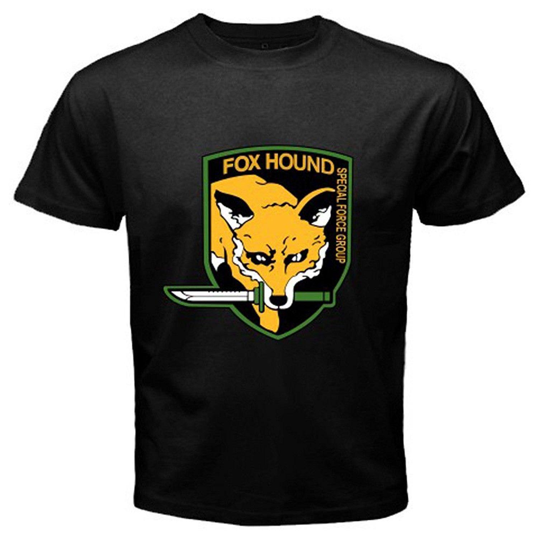 2020 de calidad superior de algodón de manga corta Metal Gear Rising raposero para hombre Negro T de la camisa de diseño fresco camisa de te de la historieta