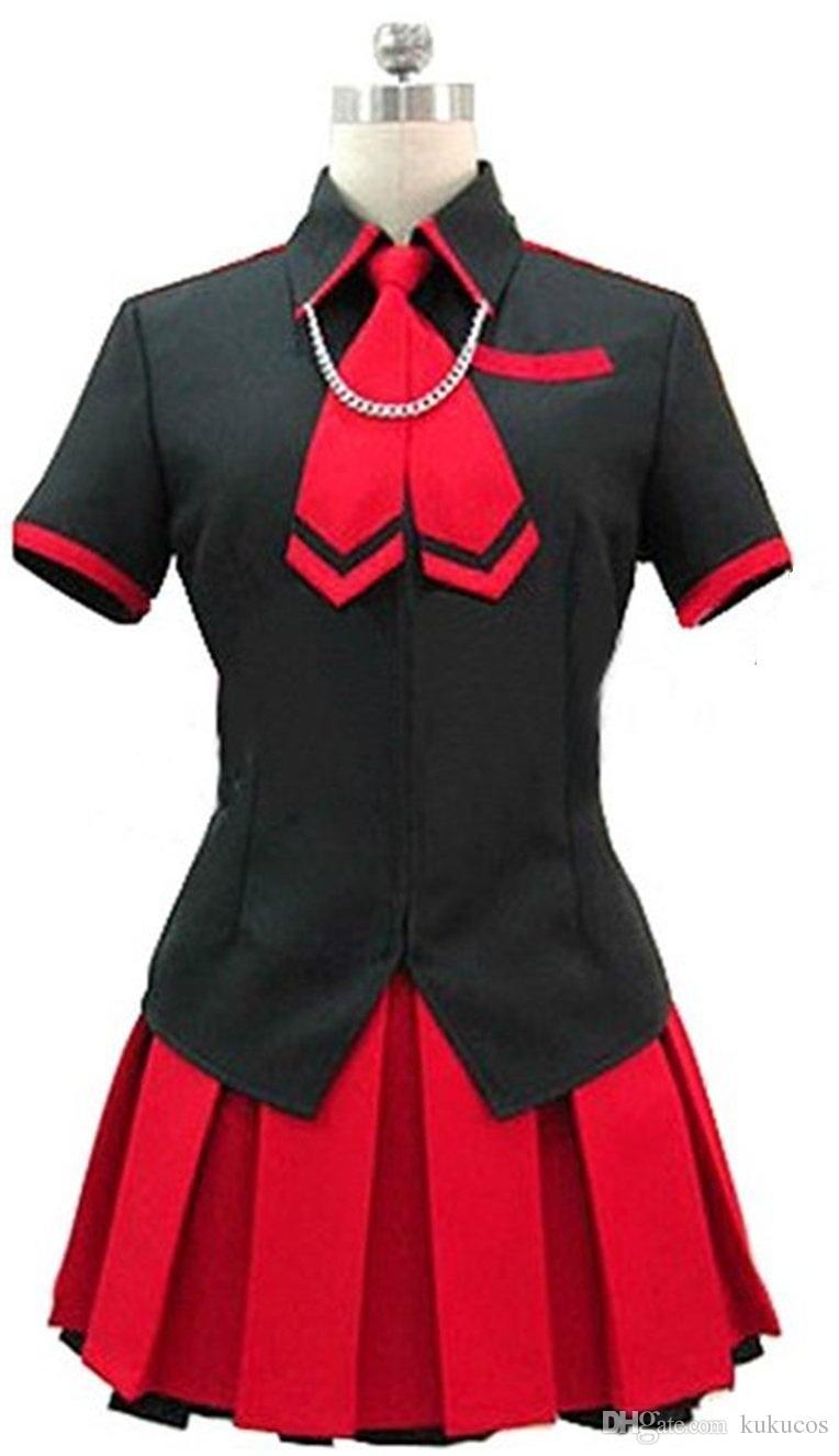 Kukucos Anime Dress BLOOD-C The Last Dark Saya Uniform Cosplay Costume Abito sexy per ragazze Jung Women