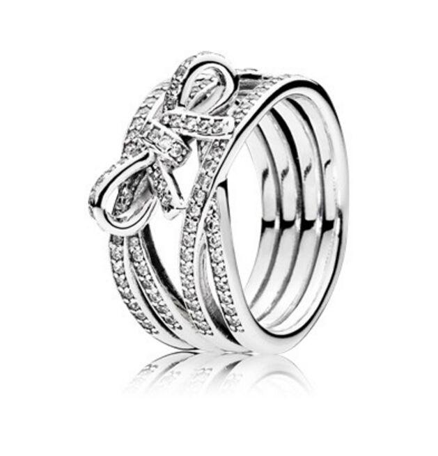anello pandora con foglia