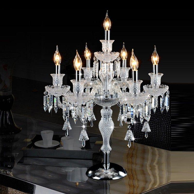 lampade da tavolo in cristallo per camera da letto di lusso di alta qualità lampada da tavolo in cristallo per la camera da letto lampada da tavolo decorazione della scrivania illuminazione a led luci da tavolo