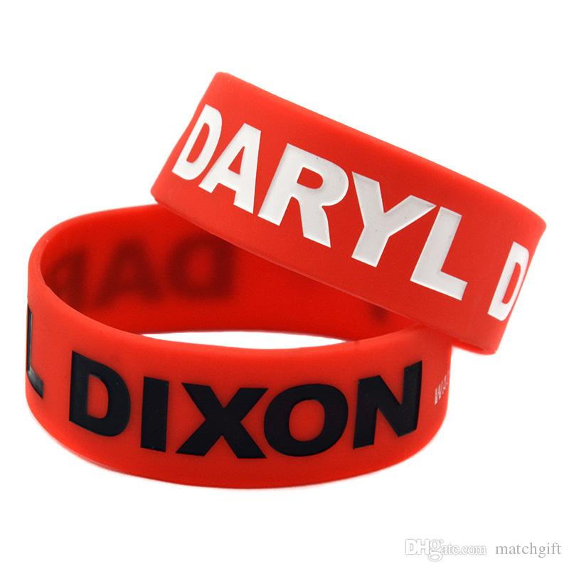 50PCS I Love Daryl Dixon Walking Dead One Inch Wide Silicone Rubber Bracelet for Promotion Gift