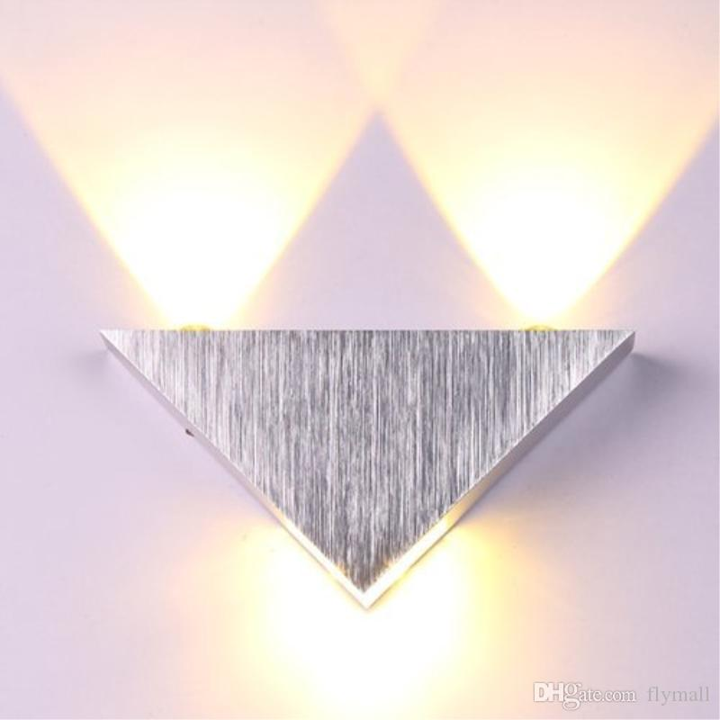 High Quality Modern Wall Sconce Triangle Designed 3W Aluminum LED Wall Light Lamp Mirror Lamp Backlight for KTV / Bar / Corridor / Balcony