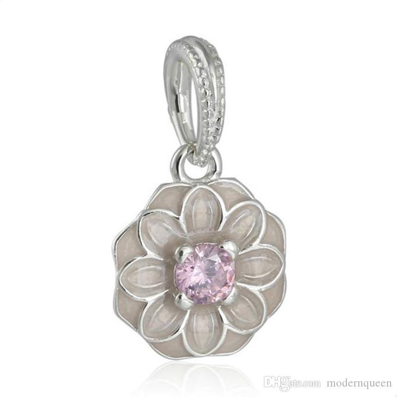 Blooming Dahlia Beres Charms Flower S925 Sterling Silver Adatto per Braccialetti Pandora 791829NBP H9