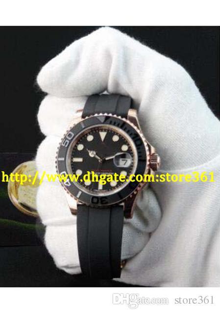 store361 новый прибытие часы неношеные 18kt розовое золото черный индекс-116655