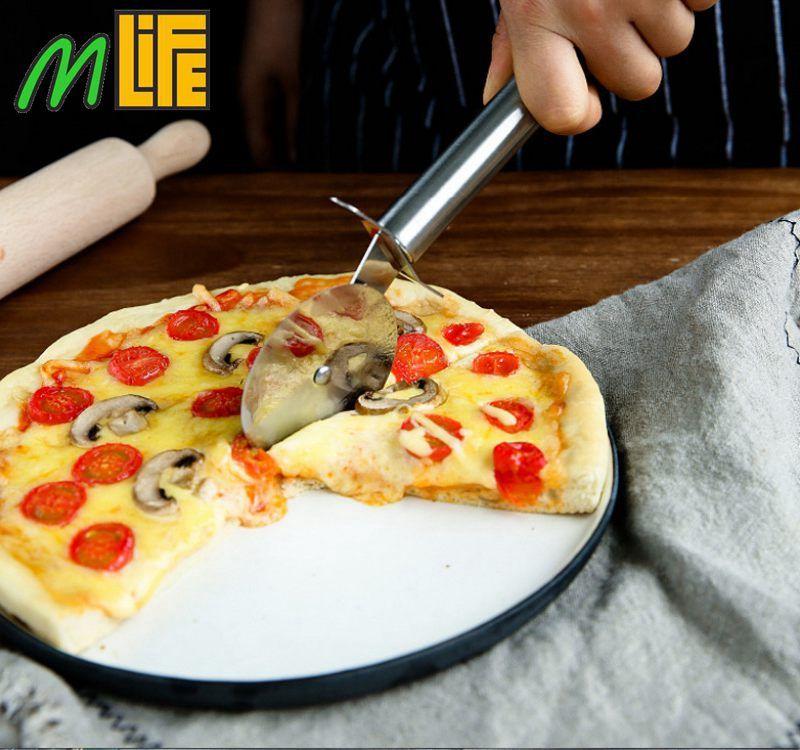 En gros! 200 pcs En Acier Inoxydable Pizza Cutter Diamètre 6.5 CM couteau Pour Couper Pizza RouesOutils Cuisine Accessoire expédition par DHL