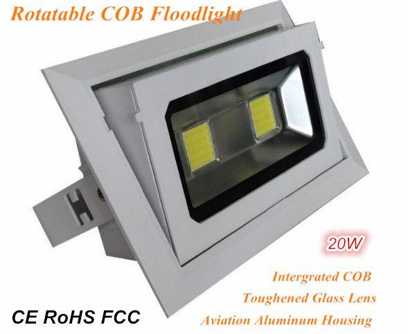 Factory Outlet COB Floodlight 20W AC85-265V COB integrada Lámpara de inundación de interior IP64 20W 2000lm LED de interior Focos