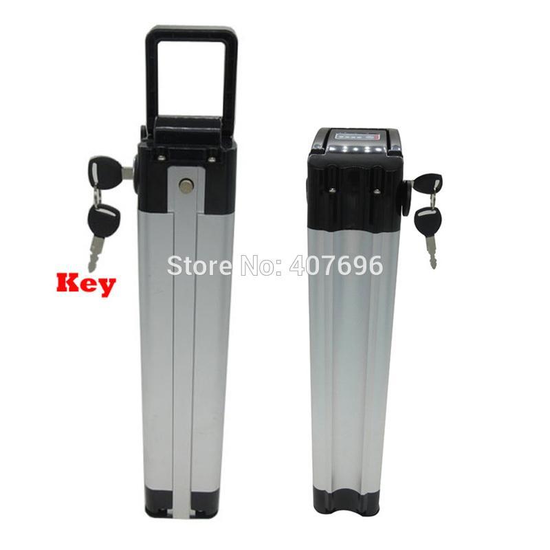 Batterie de poissons d'argent de v de batterie de vélo de 36v 14ah 500w avec la décharge supérieure de batterie électrique de vélo du chargeur 36v de 42v 2a