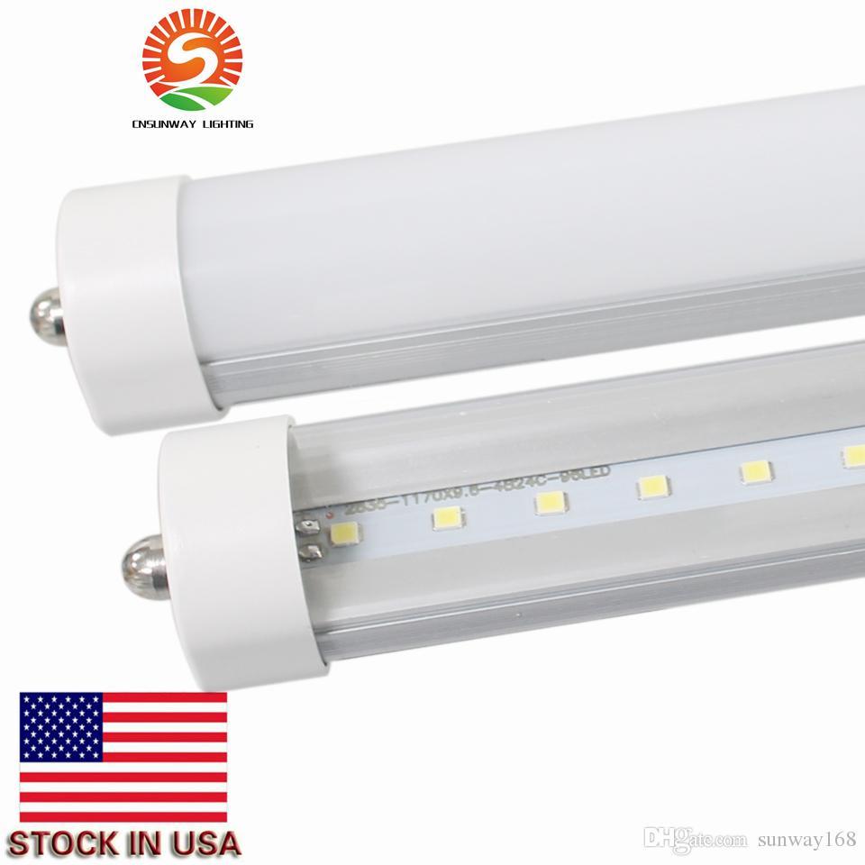 tubes de LED T8 lumière 6ft 34W 3800LM seule broche LED Tube lumière FA8 ampoules fluorescentes LED SMD2835 AC85-265V prix réel 25PCS / lot