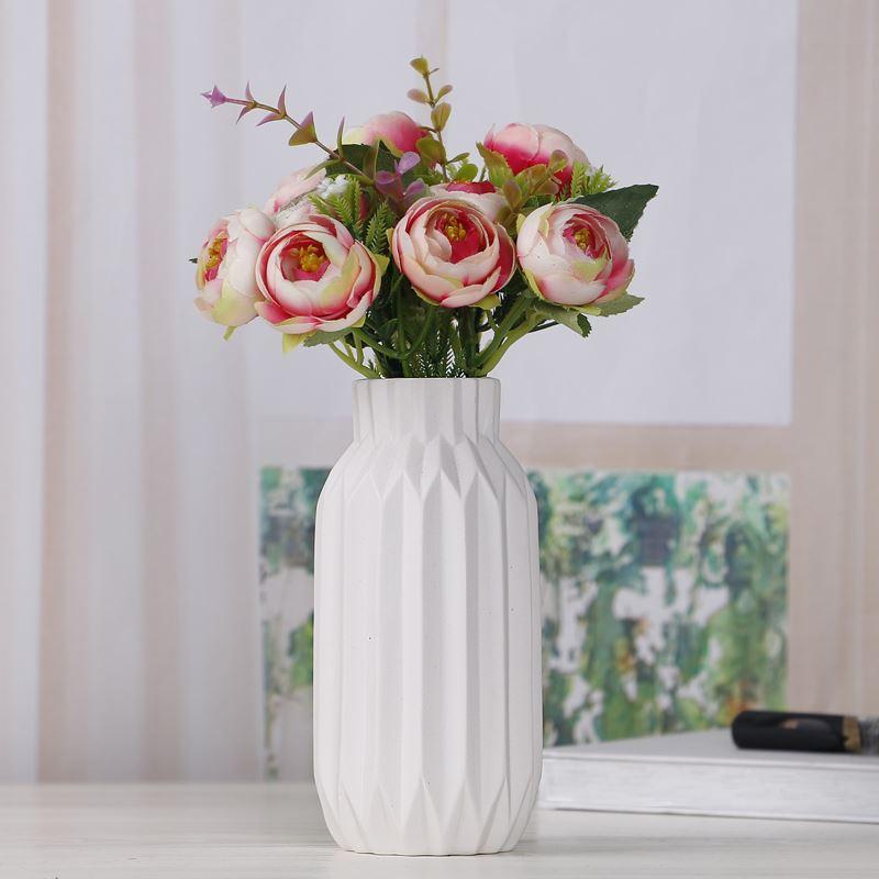 Ceramic Flower Vase Home Decor Simple Luxury Desk Decor Wedding Vases Folding Paper Surface Flower Pots White Grey Pink 15cm Big Vases Wholesale Black And White Vase From Qinyuanstone 22 48 Dhgate Com