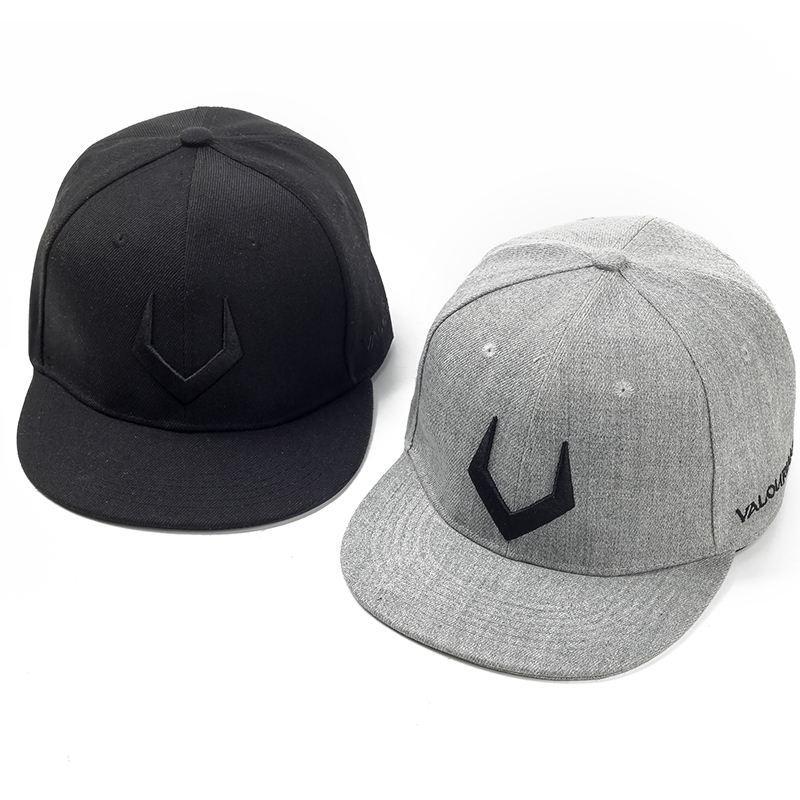 787f38307 High Quality Grey Wool Snapback 3D Pierced Embroidery Hip Hop Cap Flat Bill  Baseball Cap For Men And Women Fitted Cap Baseball Caps For Men From ...