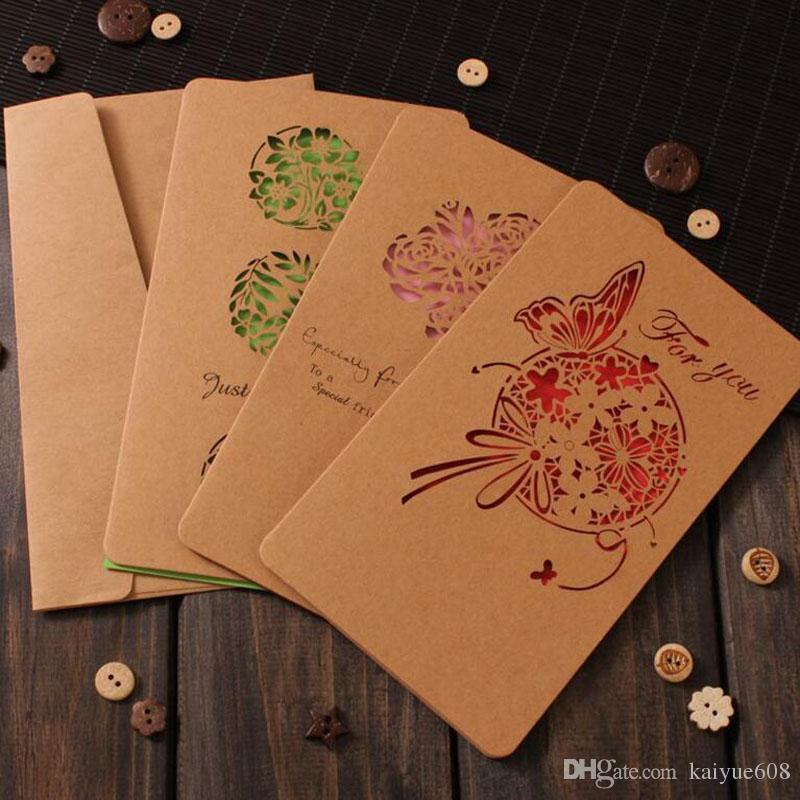 Weihnachtsschmuck Retro Grußkarten Lasergeschnittene Karte Kraft Grußkarten Visitenkarte Hochzeit Can Ues