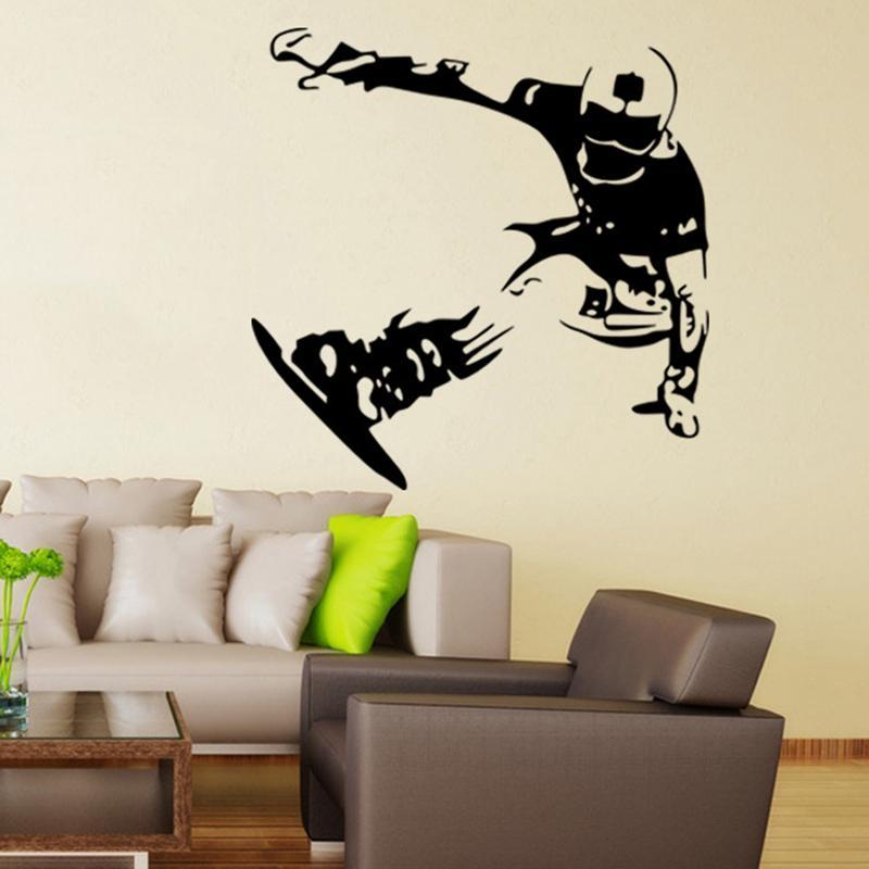 Skating-Wand-Aufkleber Sport-Vinylkunst-Wandbild-Aufkleber-Ausgangsdekoration-Wand-Papiere Außenformat 57x58cm
