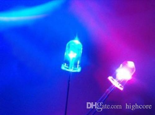 Meng door gat 5mm knipperende led diode knipperende LED's rood / groen / blauw / geel / witte kleur