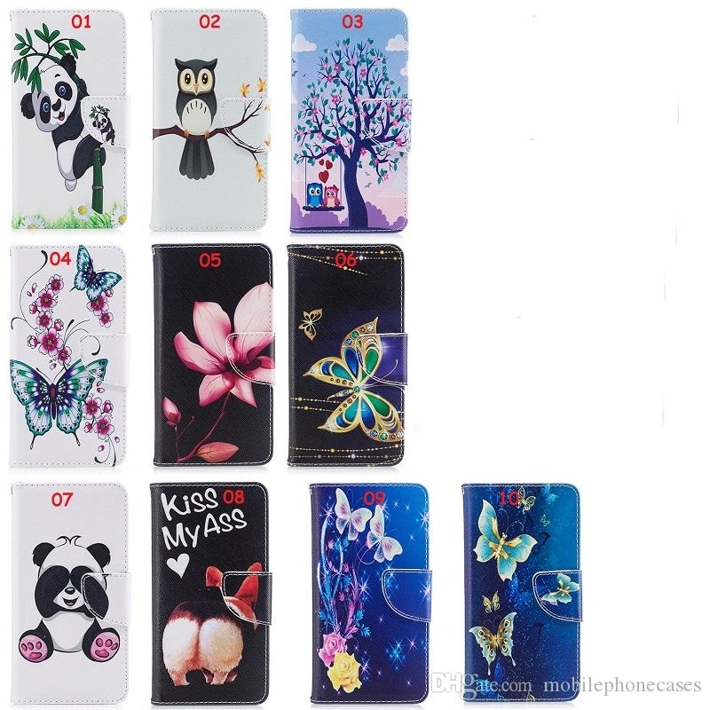 New Book Cover Case For Huawei P10 P10 Lite 3D Panda Butterfly Cartoon Leather Cover For Huawei P9 P9 Lite P8 Lite 2017 Canada 2021 From ...