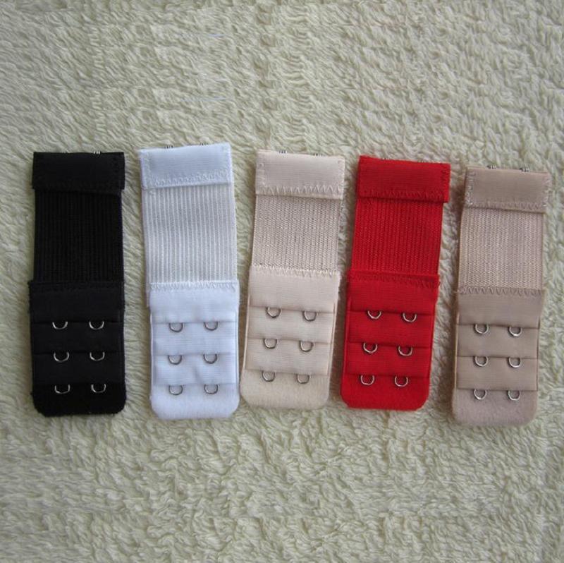 Damen elastische 2 Haken BH Strap Extender Clip perfekt verstellbaren Gürtel Schnalle weiß schwarz rot etc