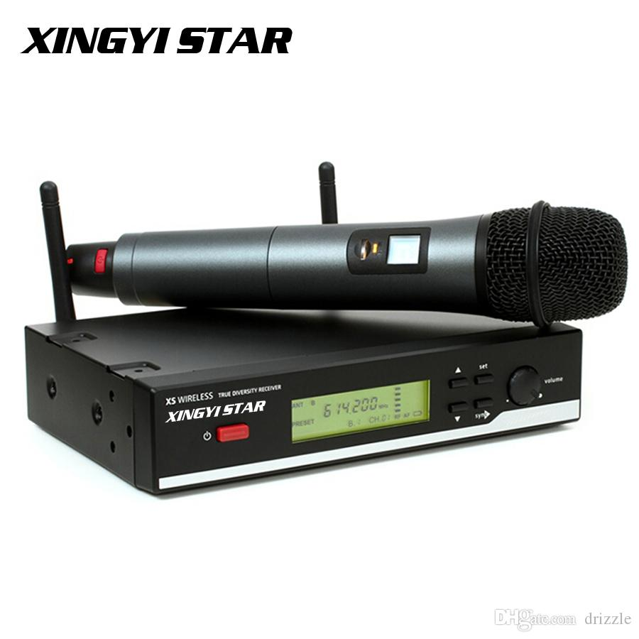 True Diversity Stage Singer Professional Microfono UHF Wireless Microphone System Vocal Cordless Karaoke Mixer Handheld Mic Mike Microfone