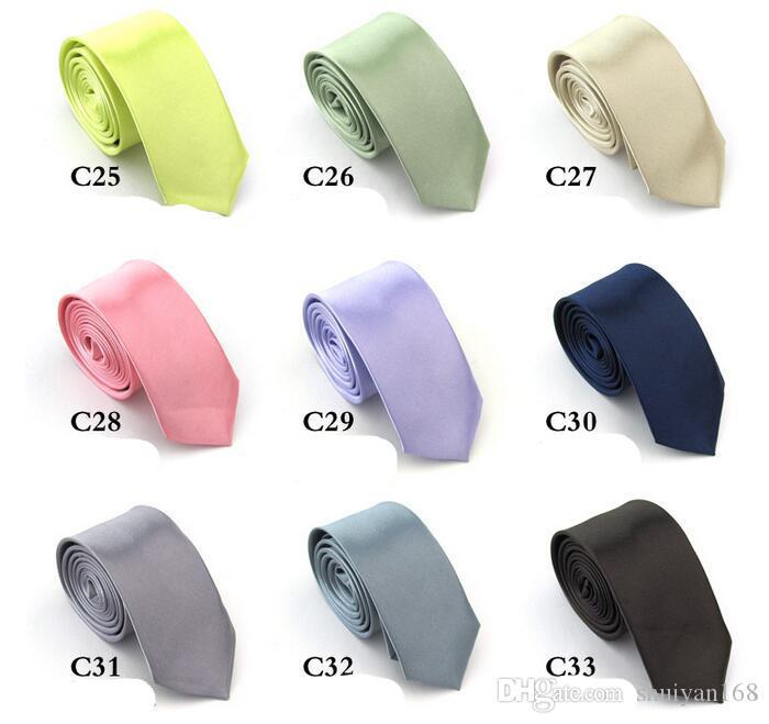 Sólido lazos del color barato para hombre de tamaño regular corbatas de seda liso Imitar boda corbata LENTH 145 regalos * 5cm Accesorios de Moda