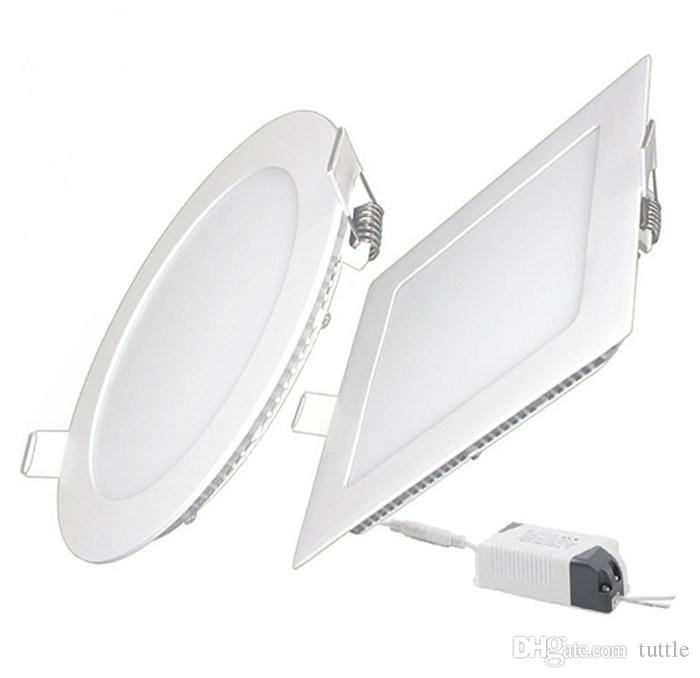 Ultrathin 9W 12W 15W 18W 21W LED voyants SMD2835 Downlight AC110-240V Fixation Plafond Down Lights livraison gratuite