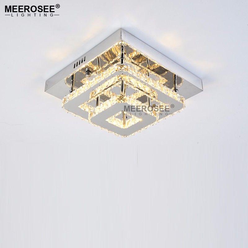 Modern Kristal LED Tavan Işık Fikstür Kapalı Lamba lamparas de techo Için Yüzey Montaj Tavan Lambası Yatak Odası Yemek Odası Için