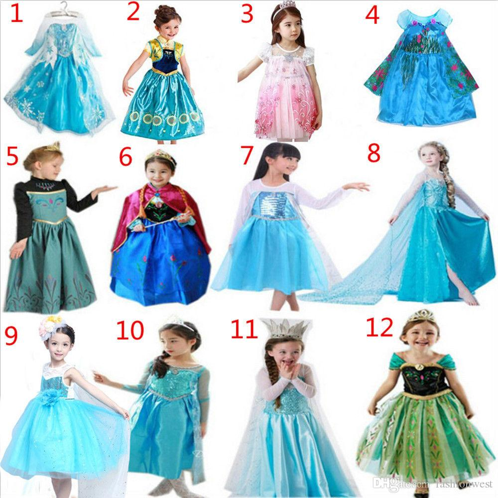 2020 Frozen Elsa Dress Up Gown Costume Ice Princess Queen Kids Girls!  Dresses Elsa Frozen Dress Costume Princess From Fashionwest, $17.08    DHgate.Com