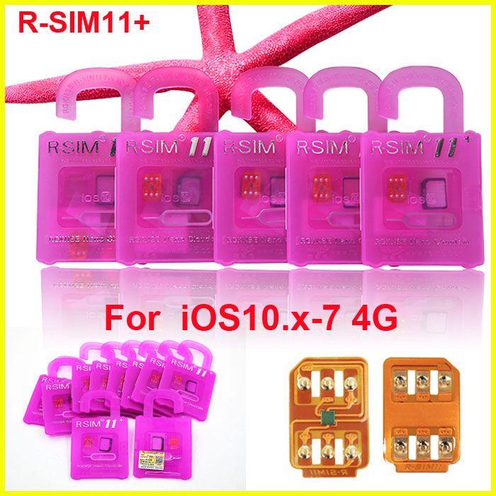 الأصلي r sim 11+ rsim11 زائد r sim11 + rsim11 فتح بطاقة لفون 5 5 ثانية 6 6 زائد iPhone7 iOS 10 9 8 iOS7-10.x CDMA GSM SB Sprint LTE 4G 3G