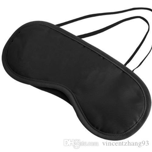 Masque de sommeil Masque pour les yeux Shade Nap Couverture Cache les yeux bandés sommeil sommeil reste reste mode Livraison gratuite gros couleurs noir