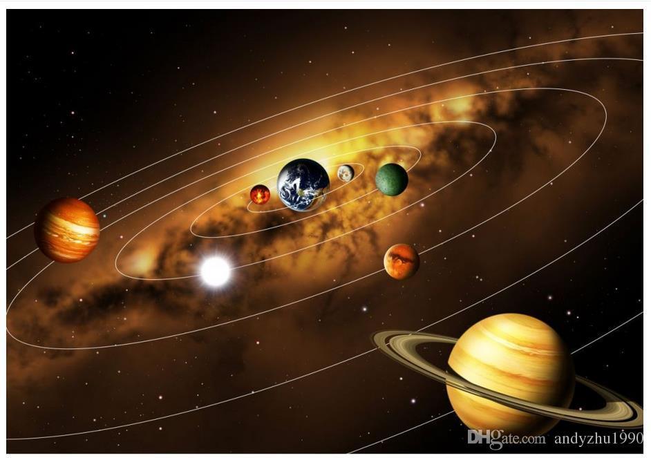 Großhandel 3d Fototapete Benutzerdefinierte 3d Wandbilder Universe Planet Hd Bild Tapete Hauptdekoration Wand Wand 3d Wohnzimmer Wanddekoration Von