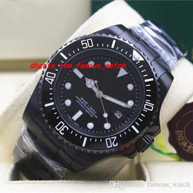새로운 럭셔리 손목 시계 PVD 코팅 116660 망 스테인레스 스틸 블랙 다이얼 세라믹 44MM 기계식 자동 남자 시계