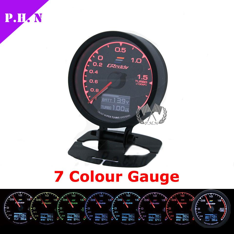 Greddy gauge 7 light colors lcd display 62mm boostoil pressure for oil temperature and oil pressure gauges you still need a oil filter cooler sandwich plate adapter to connect to your car you can buy that sandwoch sciox Choice Image